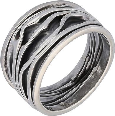 Big boho ring Vintage Big Sterling Silver Ring Size 7 Large Silver Ring Wide silver ring