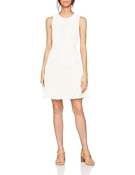 Vero Moda Vmsimone Lace S/l Short Dress Noos, Vestido para Mujer, Blanco