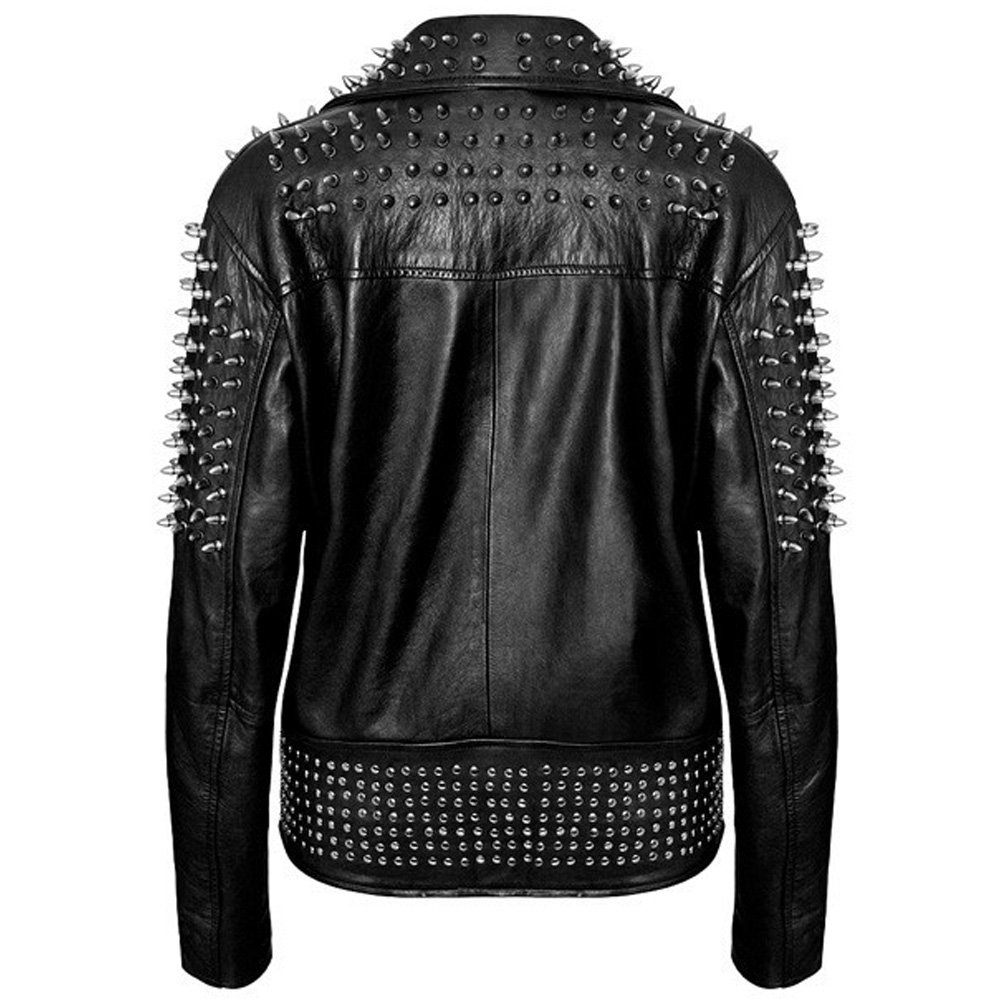 Jacket Killstar With Leather Schwarze Killer Spikes Metal GzSqUVMp