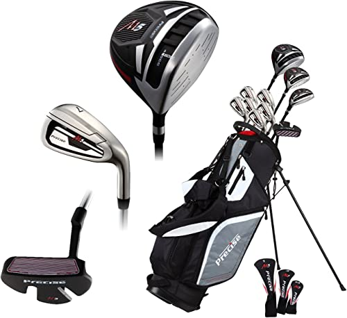 Premium Complete Lightweight Men s Golf Club Set – Regular and Tall Size 6 1 – 6 4 , Right Handed and Left Handed