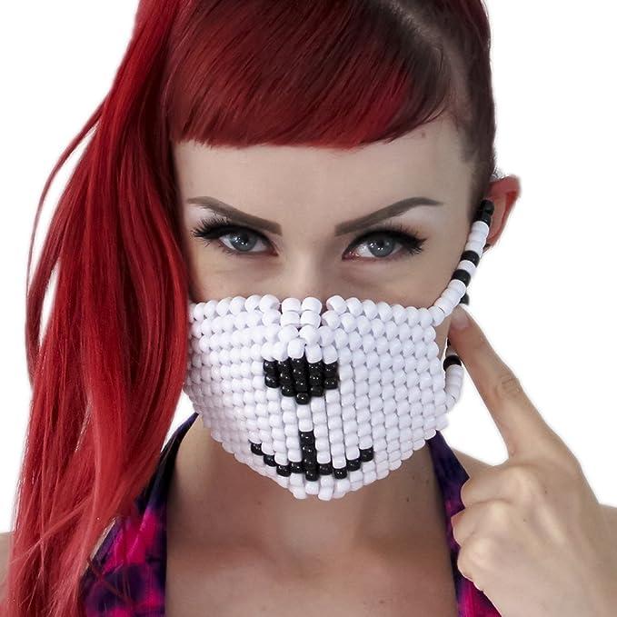 Mascara Kandi de Oso Polar por Kandi Gear, mascara de rave, mascara para halloween