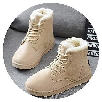 027bbf87a3d0 Women Boots Warm Winter Boots Faux Suede Ankle Boots Women Botas Plush  Insole Snow Boots