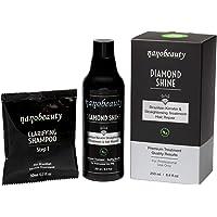 Brasiliansk keratin hårbehandling Kit 250 ml Vegan lyxbehandling utjämnande glansigt med äkta diamantpulver arganolja…