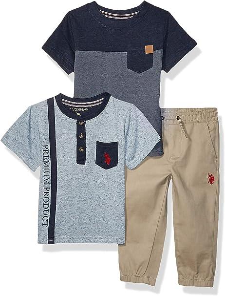 U.S Boys 2 Piece Short Sleeve Graphic T-Shirt and Jogger Set Polo Assn