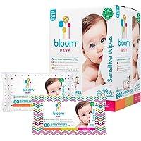 bloom BABY Toallitas hipoalergénicas para piel sensible, sin olor, BLOOM00, Blanco, 1