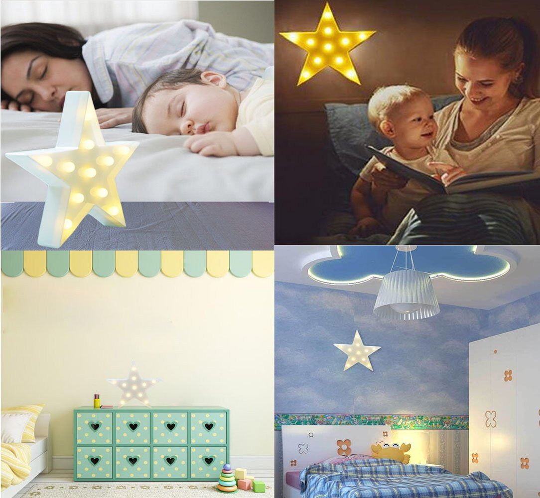 Night Light LED Cute Night Table Lamp Desk Light for Kids Room Bedroom Party Home Decorations Gift