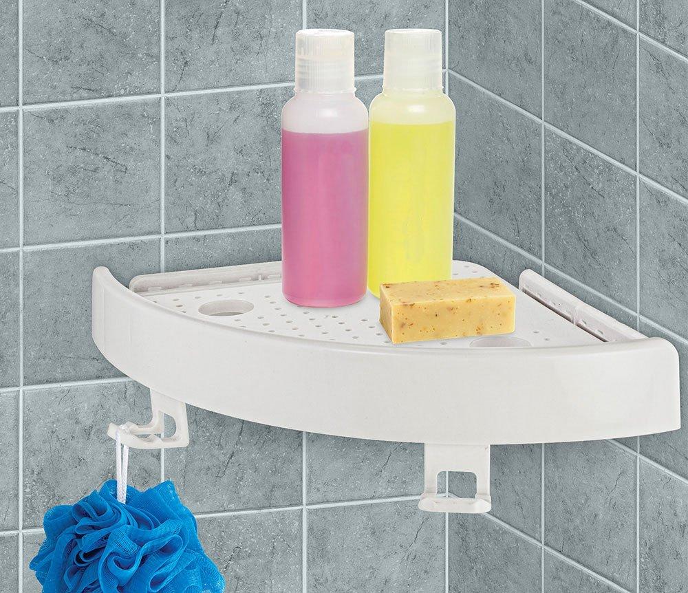 Bathroom Racks,No punching required!!!Quick Fix Corner Easy Shelf ...