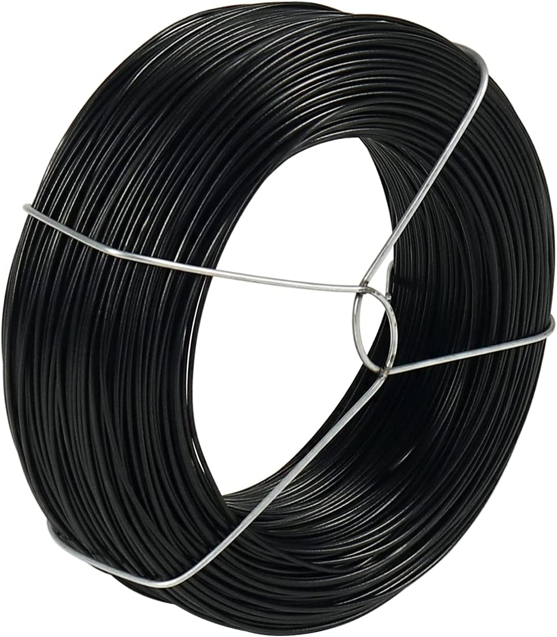 328 Feet Plant Twist Tie Plastic Coated Soft Garden Metal Wire 1mm Thin for Tomato Plants, Climbing Roses and Vines Organizing (Black)