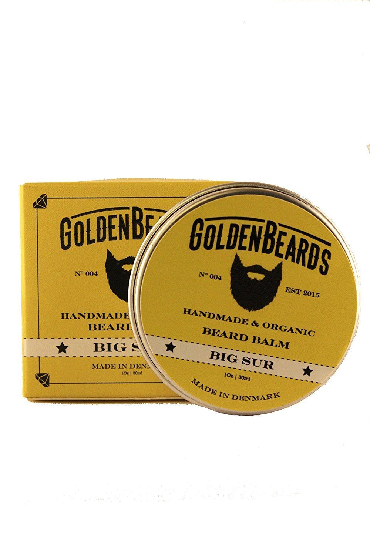 Organic Beard Balm - Big Sur - 30ml Golden Beards | 100% Natural | Jojoba & Argan & Apricot Oil by Golden Beards