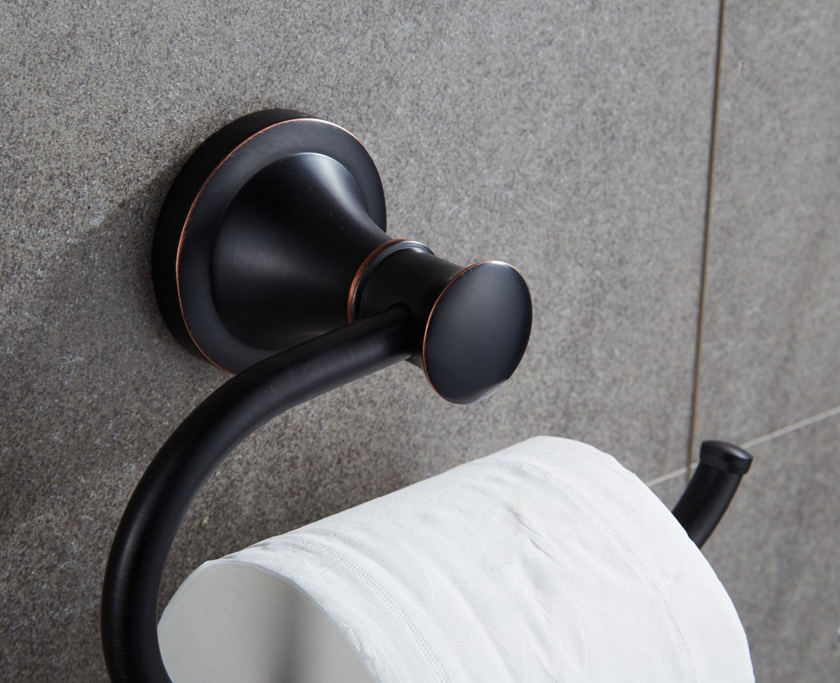 Ello&Allo Oil Rubbed Bronze Toilet Paper Holder,Bronze Toilet Tissue Holder Bathroom Accessories by Ello&Allo (Image #3)