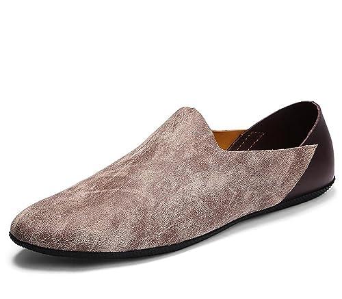 Mocasines para Hombres Zapatos sin Cordones Zapatillas de Deporte de Cuero Zapatillas para Caminar para Negocios 2018 Primavera de Verano: Amazon.es: ...