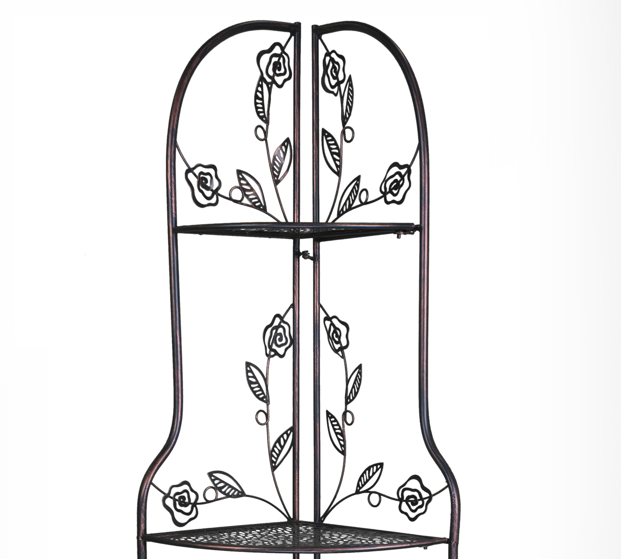 Heather Ann Creations W190837-BC Rosa Kitchen Corner Bakers Rack, Blackened Copper by Heather Ann Creations (Image #5)