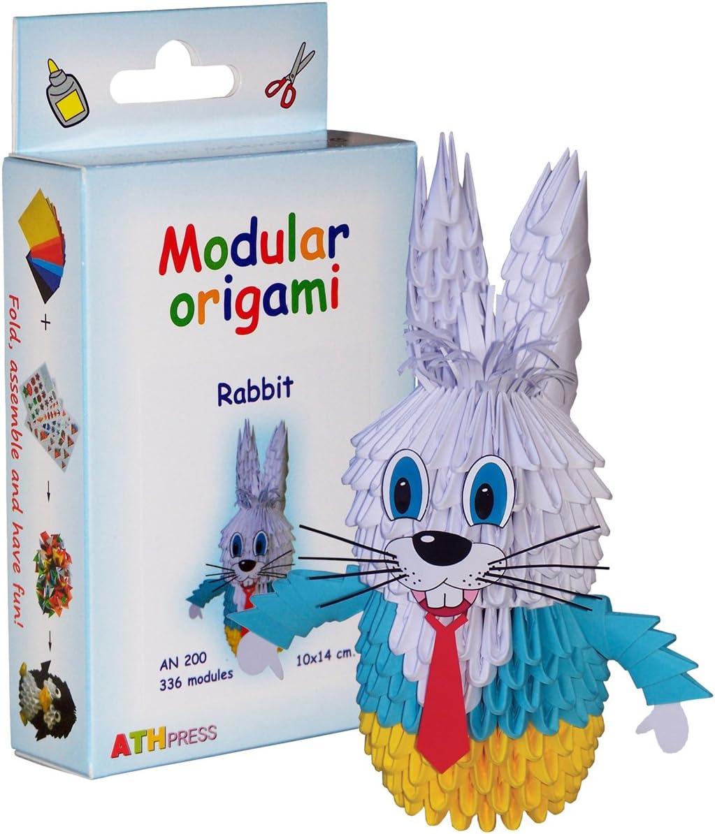 Origami modulare Set carta 336 pezzi coniglio piccolo
