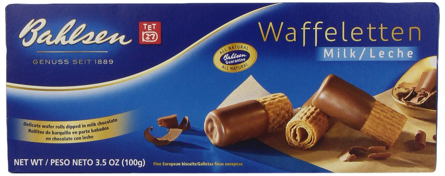 Bahlsen Waffeletten Milk Chocolate Cookies, 3.5-Ounce Boxes (Pack of 12)