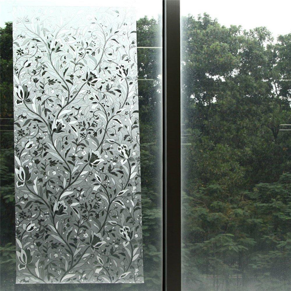 Alxcio Fensterfolie Badezimmer Blickdicht Sichtschutz Statisch