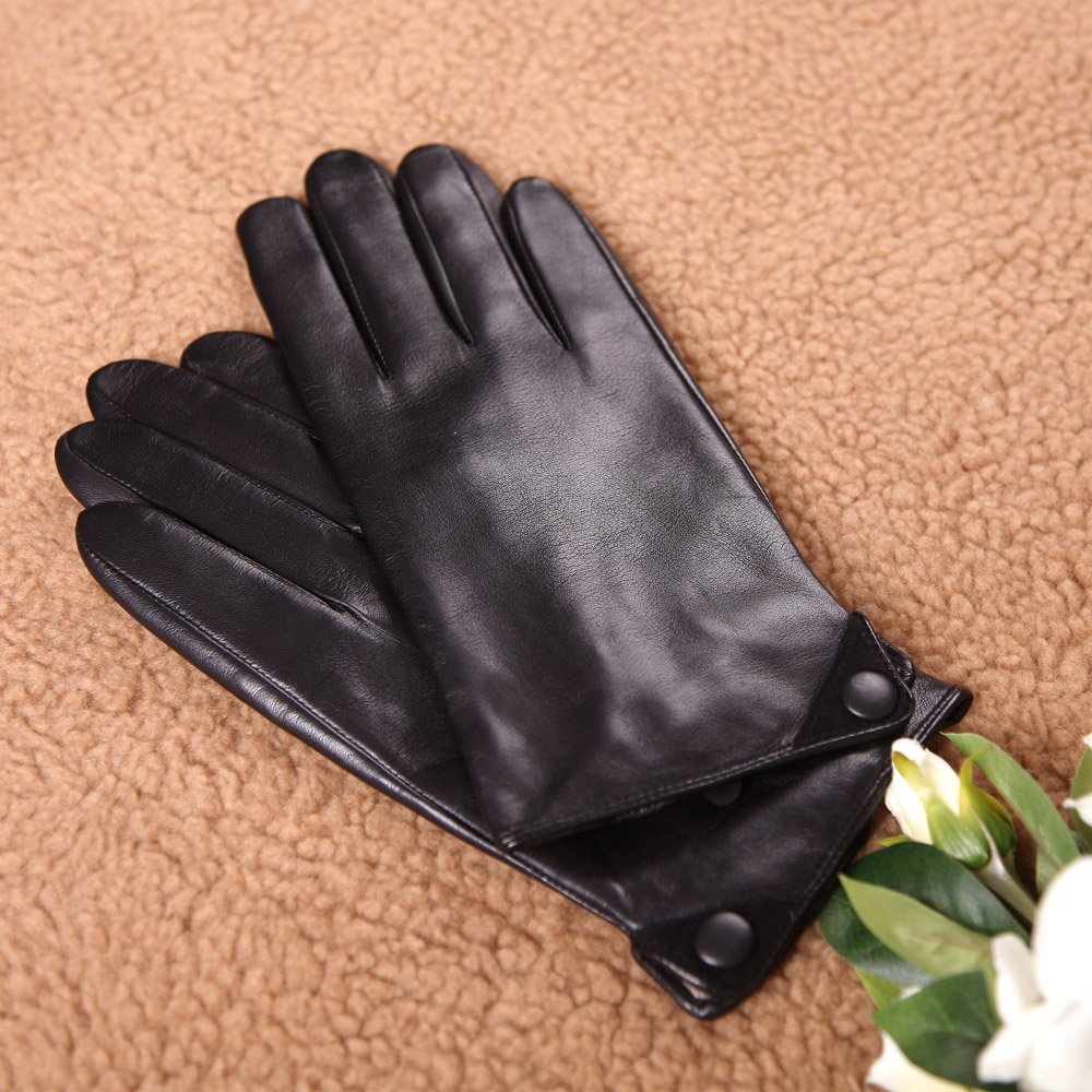 Vintage Style Gloves- Long, Wrist, Evening, Day, Leather, Lace Mens Winter Warm Fashion Dress Leather Gloves Leather Button $26.99 AT vintagedancer.com