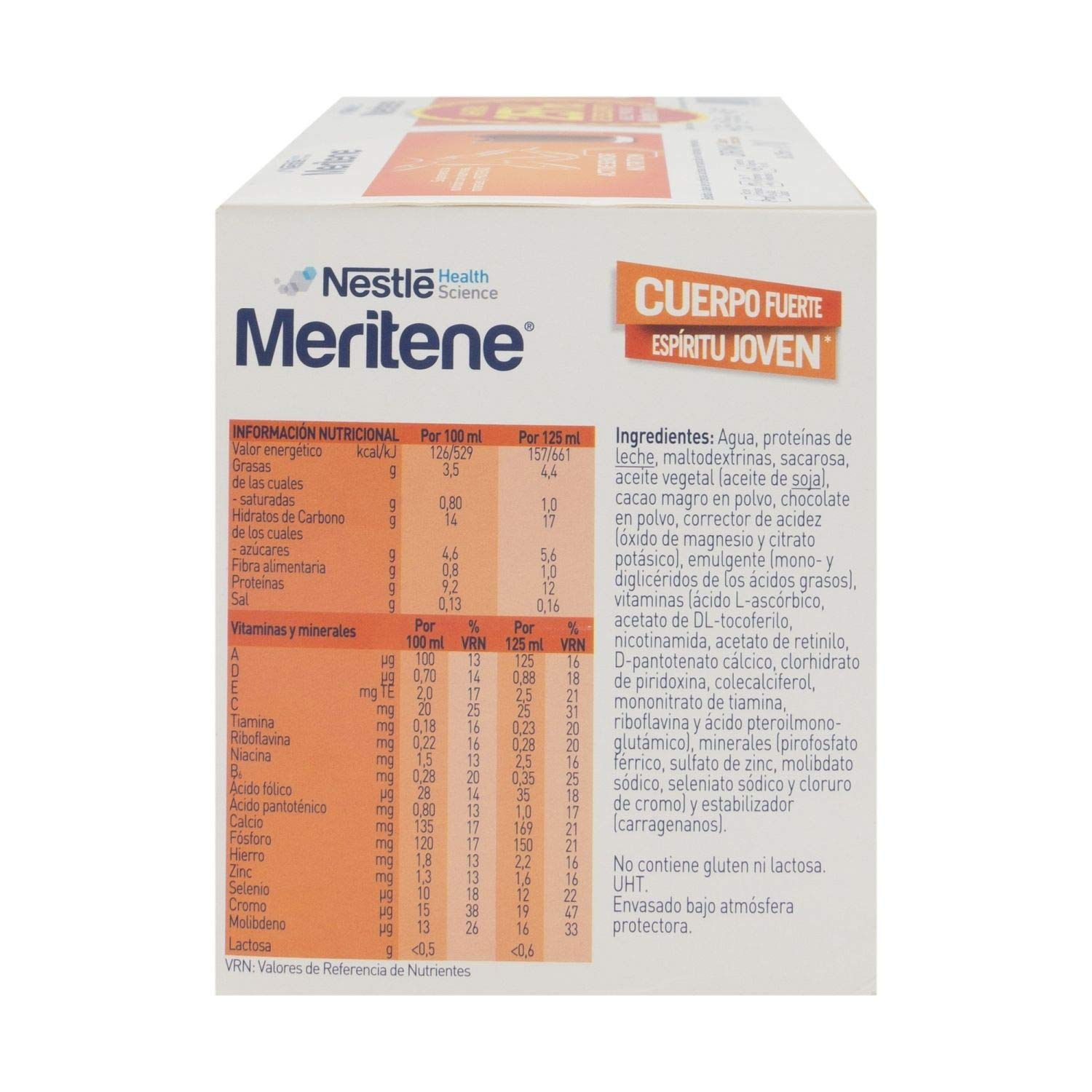Amazon.com: Nestlé Meritene Drink Chocolate 125ml X 8 Bottles – High-protein Drinkable Supplement – Vitamins And Minerals – For Elderly – Daily Diet ...