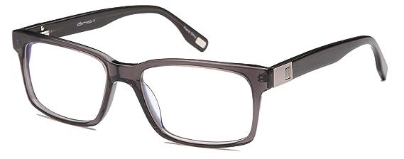 be08fb56df91 Amazon.com  Mens Strong Glasses Frames Prescription Eyeglasses Rxable  55-18-145-37 in Gunmetal  Clothing