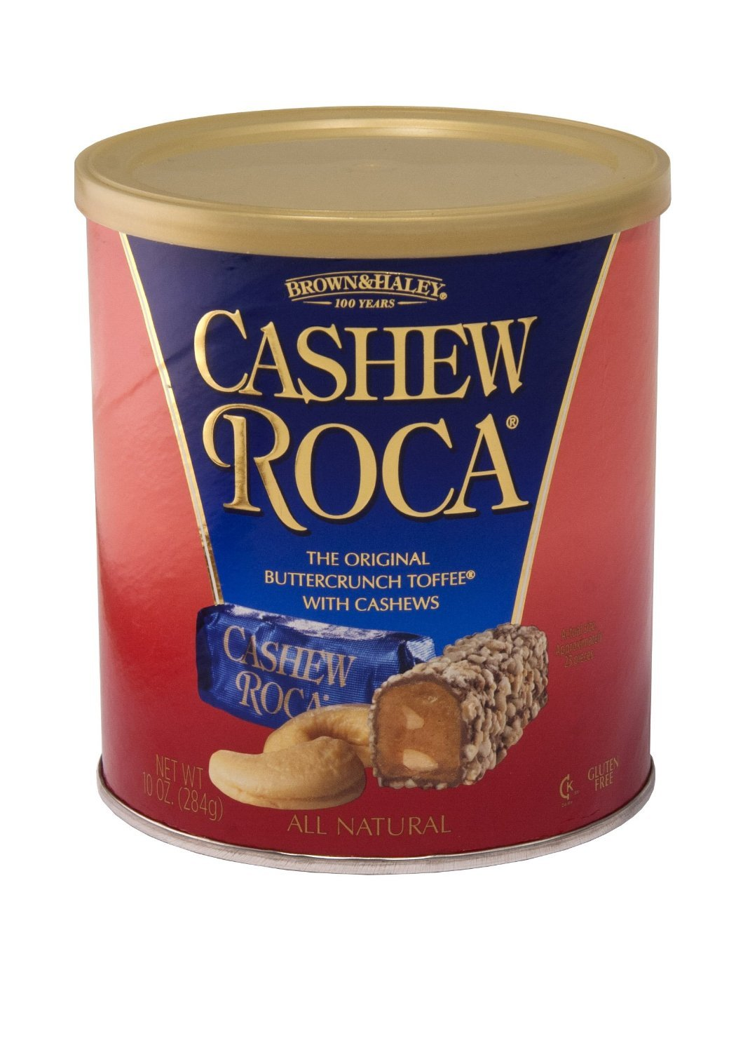 Brown Haley Cashew Roca 10oz Canister (2 Pack)