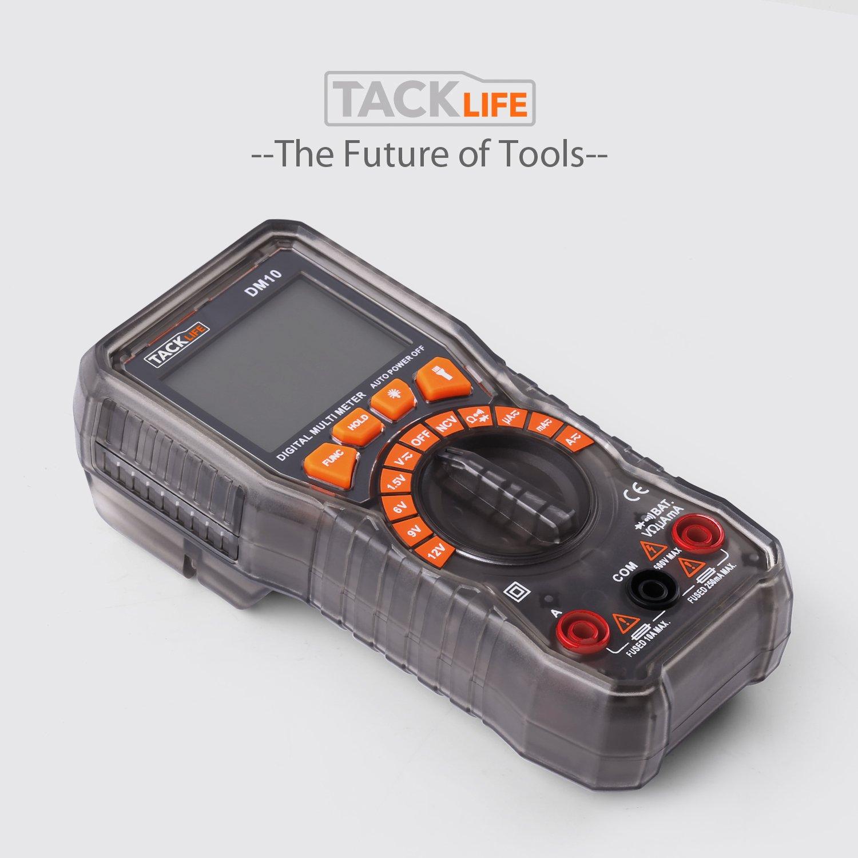Resistenza AC//DC Tensione Corrente Tester per batterie diodi NCV Funzione con hintergrundbeleuchtem Schermo TACKLIFE DM10/multimetro digitale tester per batterie