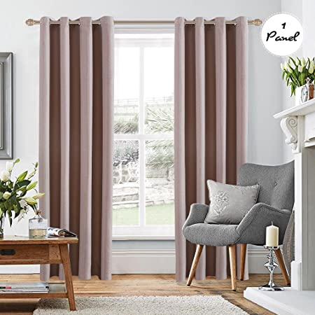 Perfect KINLO 1 Panel 140 X 260 Cm Eyelet Blackout Curtains Cationic Velvet Curtain  Thermal Insulation 90