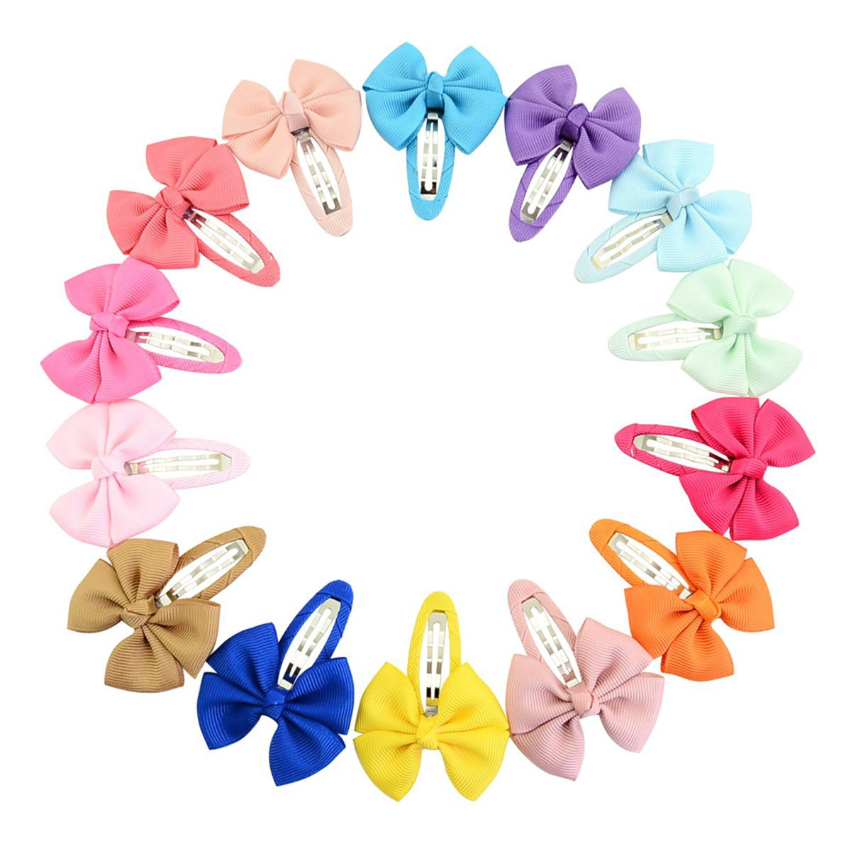 Calliar Girl\'s Headbands Ribbon Hair Bow Clips Barrettes For Girl Teens Kids Babies Toddlers ,20Pack-BB Bow