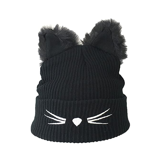 Image Unavailable. Image not available for. Color  Fashion Culture Women s  Kitty Critter Beanie Hat w Fuzzy Cat ... 0d66c05e82dc