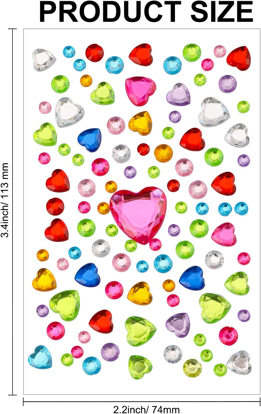 pi/èces Autocollants de Strass Autocollants de gemme Auto-adh/ésifs Bijoux Autocollants Autocollants de Diamant de Coeur de Paillettes pour Sacs de Cadeau de Carte de Valentine Qpout 900