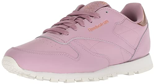Reebok Unisex Classic Leather Sneaker, rm-Infused Lilac/Chalk, 4.5 M US Big Kid