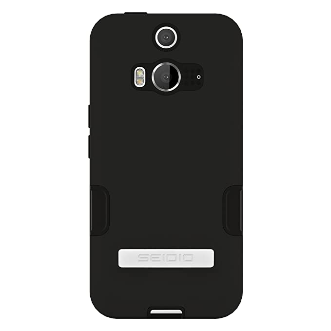 official photos a02d6 a4ef7 Seidio DILEX Pro with Metal Kickstand Case for HTC Butterfly 2 - Retail  Packaging - Black