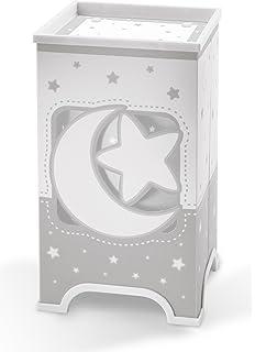 Dalber 63230E Moon and Stars, Lámpara de sobremesa Luna y estrellas gris, bombilla LED