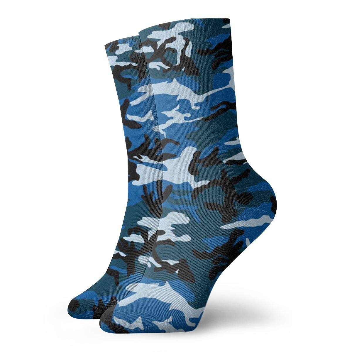 SESY Navy Camouflage Unisex Crew Socks Short Sports Stocking