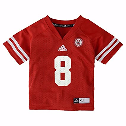47398629bf2 adidas Nebraska Cornhuskers NCAA Red Official Home  8 Replica Football  Jersey for Infant (12M