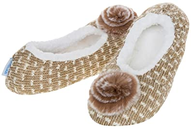 b0ef7f91b30 Image Unavailable. Image not available for. Colour  Snoozies Slippers Soft  Pointe Ballerina Ladies