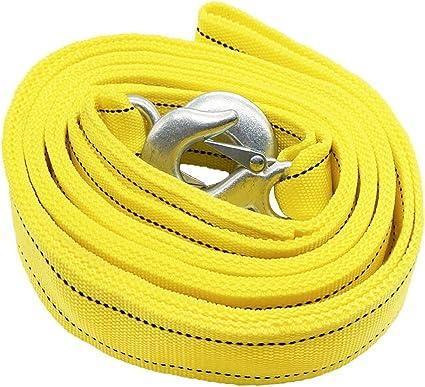 correa-estilo correa de remolque hasta 5 toneladas HCL Doble grueso para la cuerda de remolque de servicio pesado longitud de 4 metros con una caja de transporte con cremallera