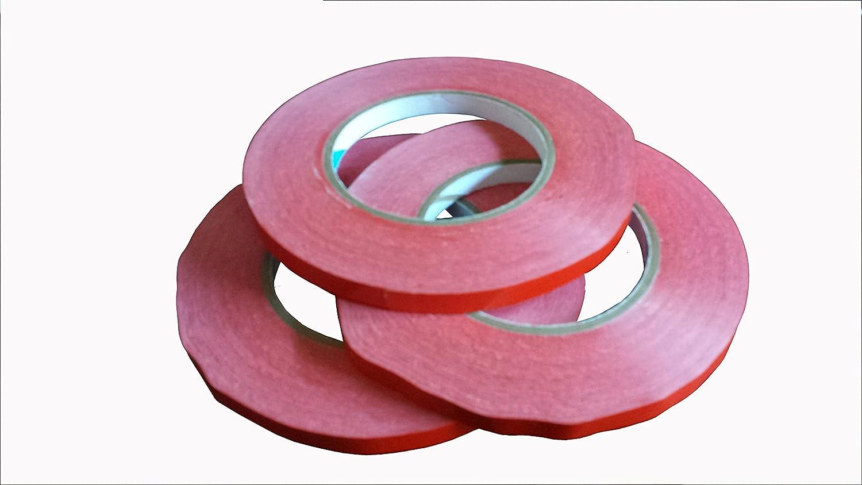 """Bag Sealer Tape, Red, 3/8"""", 3 Rolls of 180 yds each"""