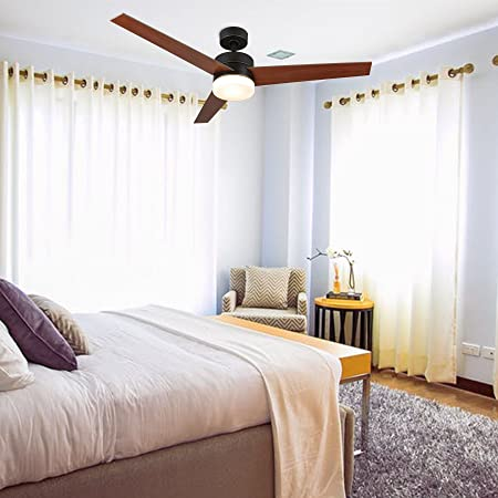 CO-Z 52 Inch Ceiling Fan Light Old Bronze Finish with 3 Fan Blades, Include 15W LED and Remote Control, UL Certificate