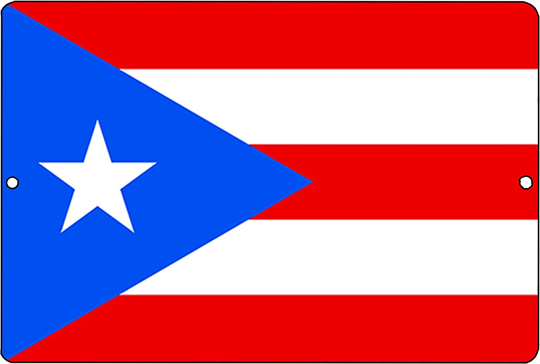 Rogue River Tactical Puerto Rico Flag Metal Tin Sign Wall Decor Man Cave Bar Puerto Rican