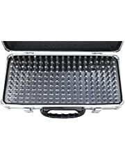 Accusize Industrial Tools 0.061'' to 0.250'' 190 Pc Steel Plug Pin Gauge Set, a Fitted Aluminum Case Included, M1(-) A