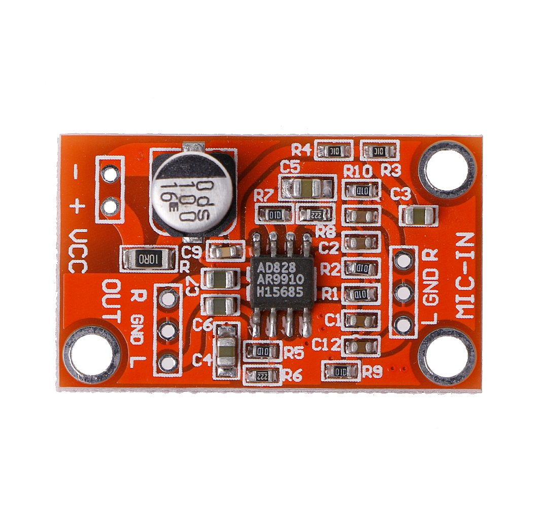 Fxco Ad828 Stereo Dynamic Microphone Preamplifier Board Mic Preamp Circuit Low Noise Module Dc 38v 15v Business Industry Science