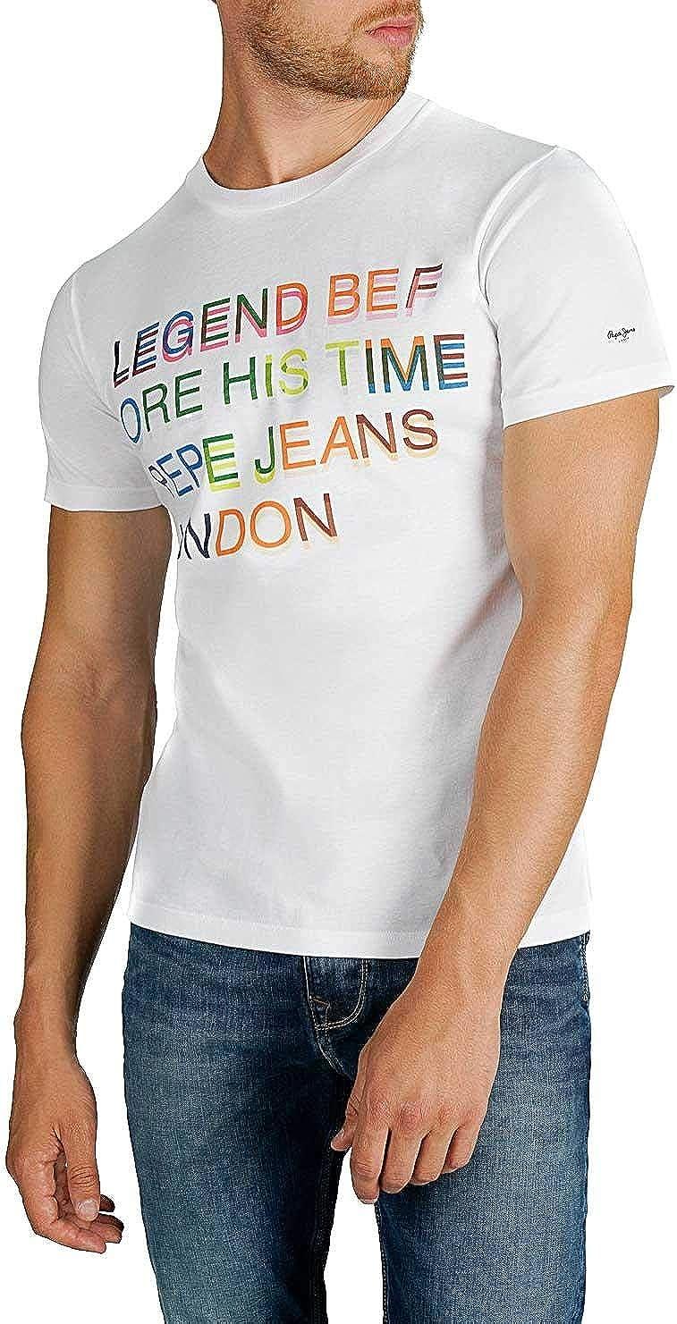 Pepe Jeans Camiseta Lewis Blanco para Hombre XXL Blanco: Amazon.es: Ropa y accesorios