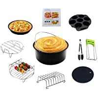 Air Fryer Accessories 7 inch 10-Piece Set, with Non-Stick Coating, Suitable for air Fryer Accessories of 5.2-5.8QT…