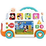 "Kiddieland Toys Limited Mickey Mouse & Friends Talkin' School Bus Infant Learning Toy, 9.25"" x 13.25"" x 2.38"""