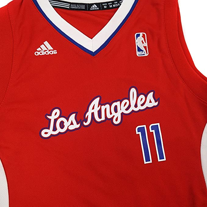 0b82e58674b Amazon.com   adidas Jamal Crawford Los Angeles Clippers NBA Boys Red  Official Road Replica Basketball Jersey   Sports   Outdoors