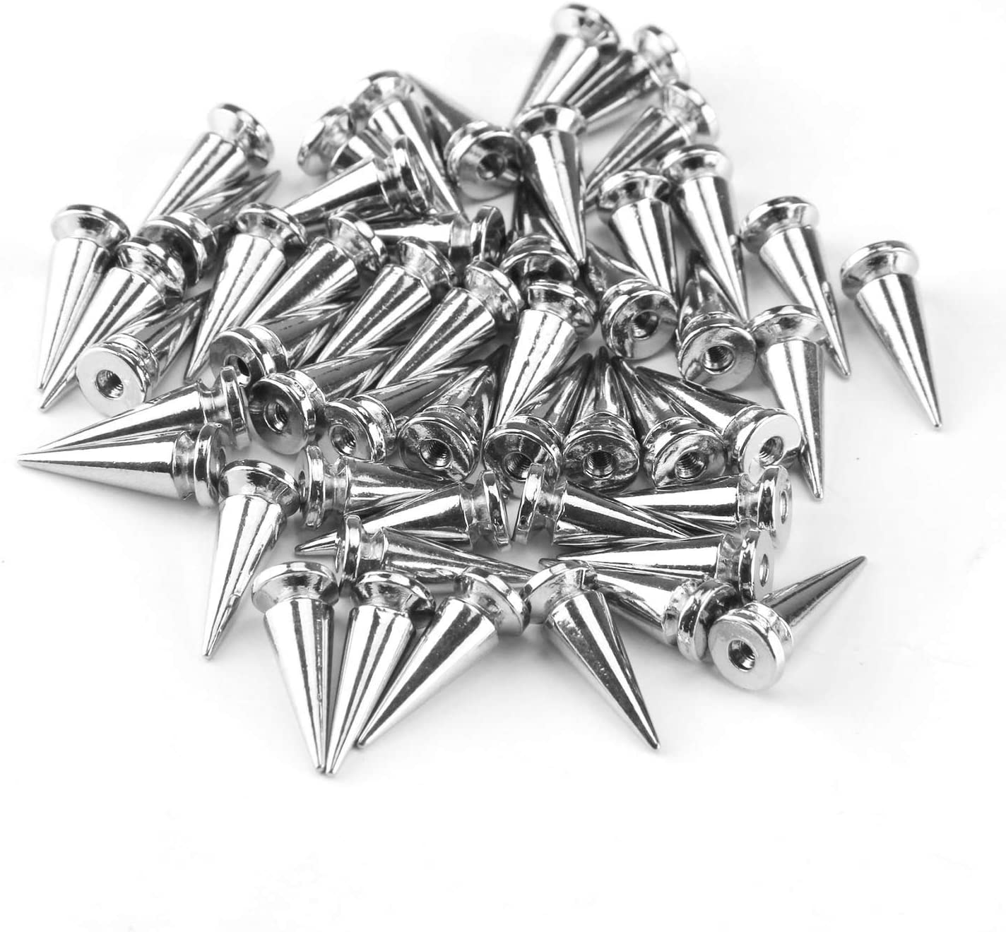 50PCS 10x25mm Alloy Bullet-Shaped Stud Spike Rivets for DIY Craft Leather Necklace Bags Shoes Jackets Belts