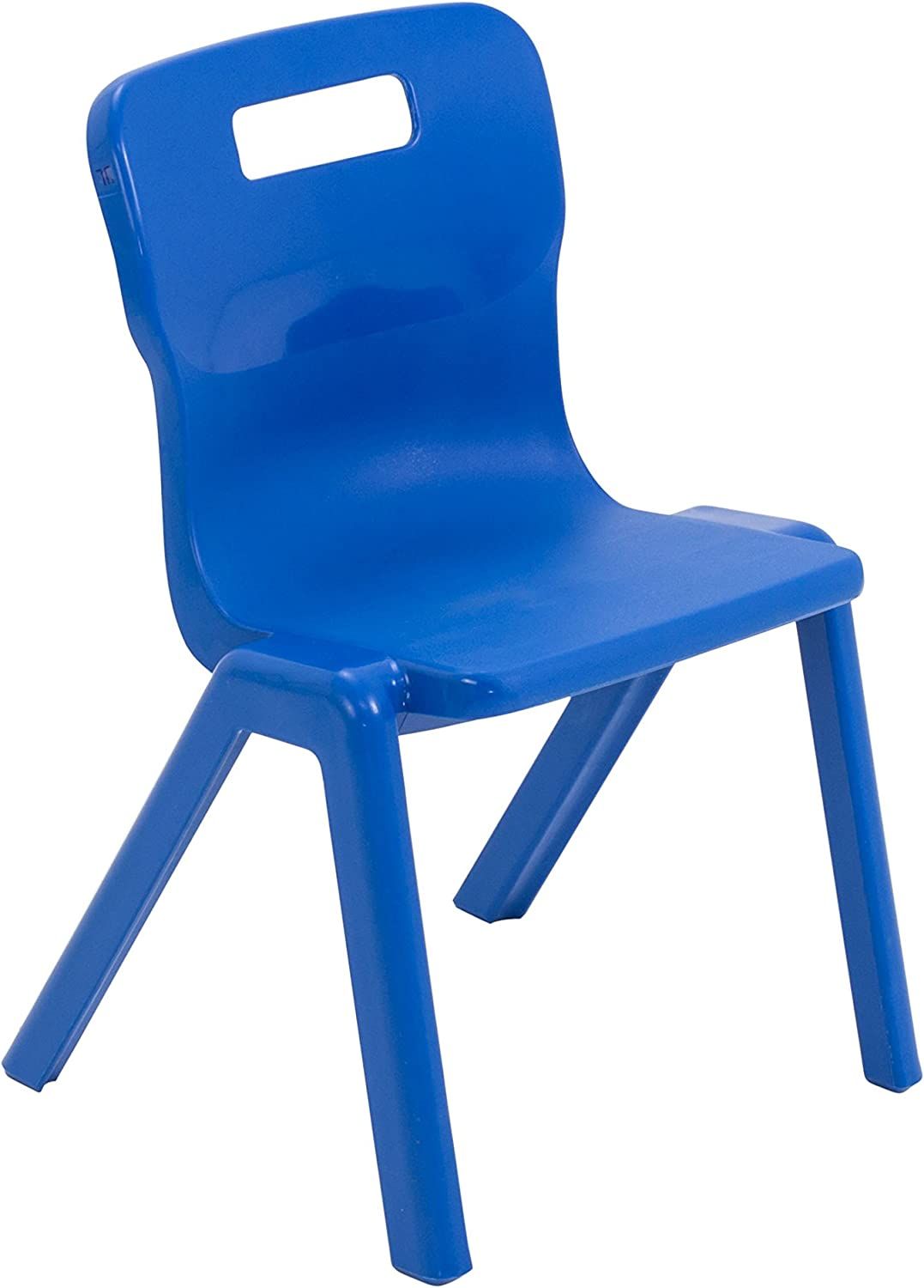 Blue Ages 3-5 Years Size 2 Pack of 2 Titan One Piece Classroom Chair Plastic