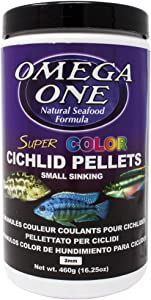 Omega One Super Color Sinking Cichlid Pellets, 2mm Small Pellets