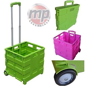 Carrito de transporte MP Essentials. Carrito de transporte, capacidad de 40 kg, ideal para las compras y campamento lime green: Amazon.es: Hogar