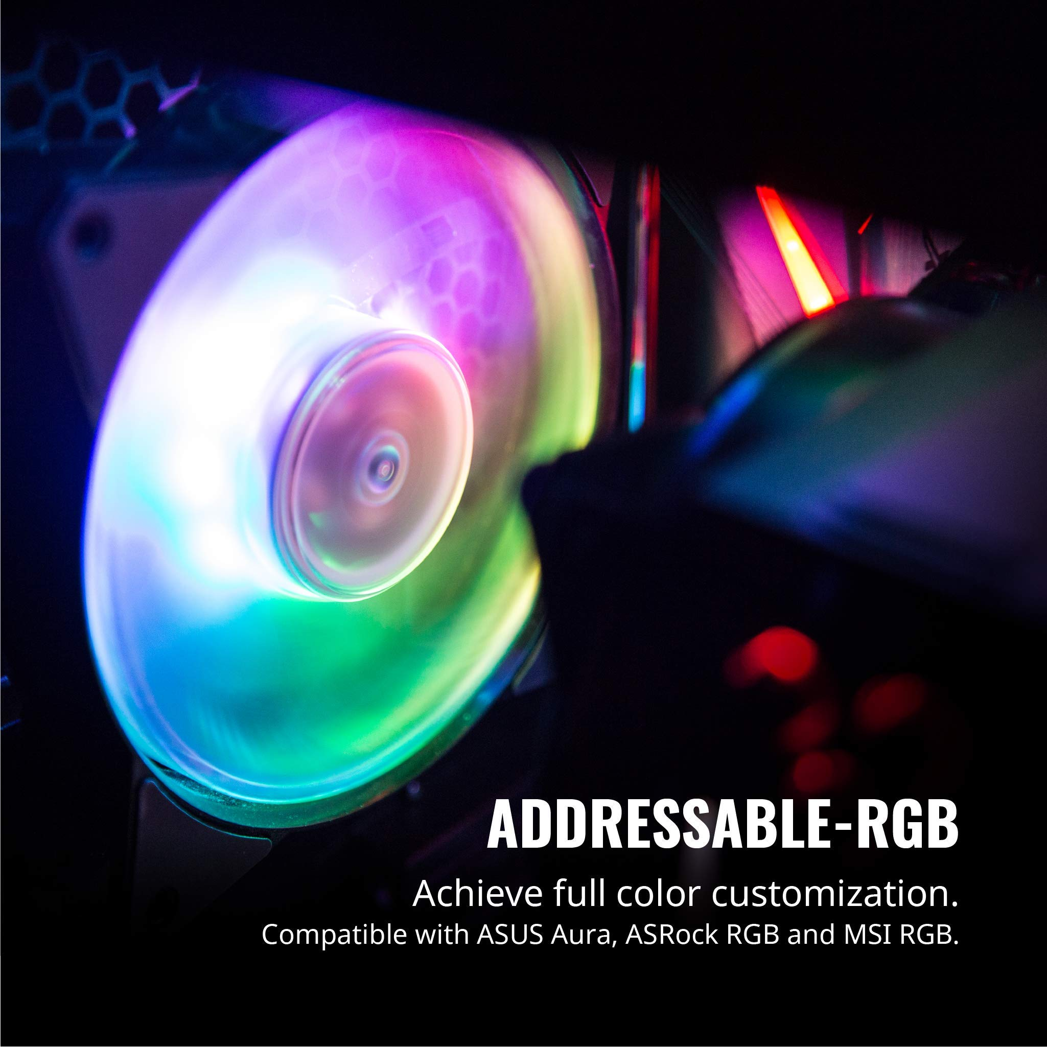 Cooler Master R4-120R-203C-R1 Master Fan MF120R- 120mm Air Balance Addressable ARGB 3in1 Case Fans Computer Cases CPU Coolers and Radiators by Cooler Master (Image #2)