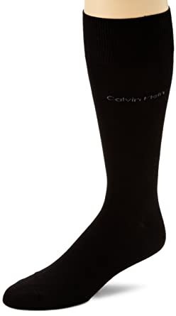 bc8259d6a8b5 Calvin Klein Men's Egyptian Cotton Flat Knit Dress Socks at Amazon ...